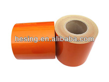 Promotion!3M micro prismatic high visibility orange self adhesive reflective tape at wholesale/retail waterproof