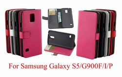 Crazy Horse PU Leather Case Cover Pouch for Samsung Galaxy S5 SV G900 ,inner standing