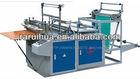 Heat sealing and cool cutting bag making machine