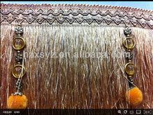 decorative tassel fringe ,fringing , trim,trims ,trimming For curtain