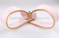high quality 3# bags & garments zip manufacturer metal golden y-teeth zipper