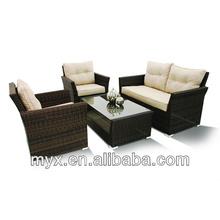 2014 Hot sale fashion porch Modern rattan outdoor furniture sofa set
