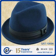 Fashion 100%wool felt Mens fedora hats wholesale in Factory