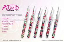 Professional Eyelash Tweezers with beautiful flower design/ Discounted Tweezers for Lash Extension/ Eyelash Extension Tweezers