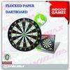 2014 new arrival fashion flocked paper dartboard
