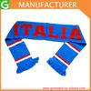 Italy National Football Team Fans Scarves Flag Logo Muffler Acrylic Knitted Double-sided Winter Soccer Scarf/Muffler