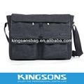 """15.6"""" portátil bolsa de mensajero bolsa de negocios maletín para hombre lienzoparte k8443 a prueba de agua"""
