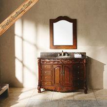 Frank wood single bowl antique bathroom vanity with marble top