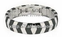 XLT-TS14 Dark and Light ! Pure Titanium Magnetic Stretch Bracelets