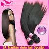 High quality,good service virgin soft brazilian hair human hair weave straight