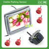 "3.5"" lcd hd monitor Car visible car audio system with reverse camera parking sensor for honda"