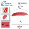 manual watermelon printing fruit design 3 fold pocket umbrella