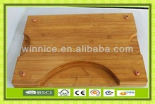 high quality square bamboo cutting board with footmats