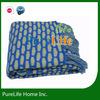 Decorative fringed knit throw blanket