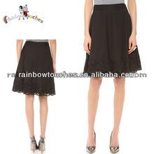 2014 Costume Design Elegance Women Black Lace A-line Skirt