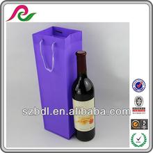 Luxury custom plastic wine carrier bags