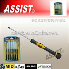 6PCS Double Color plastic Handle Precision Screwdriver series#M05
