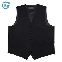Men's Waiter Black Formal Sleeveless Vest