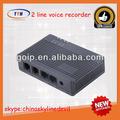 venda quente 2 linha online gravador de voz dispositivo