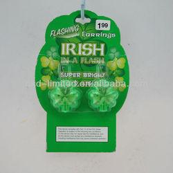 St Patrick Flashing Earrings