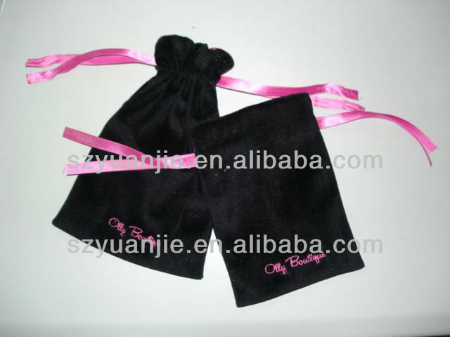 Promotional chinese mini jewellery velvet pouch drawstring manufacturer & exporter