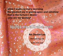 bronzing fabric/bronzed fabric for fashion dress,down jacket,sofa,bag,curtain,belly dance
