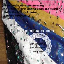 foil fabric for fashion dress,down jacket,sofa,bag,curtain,belly dance