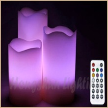 Edge pillar Paraffin Wax Unique design ultra bright led candle light