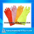Flocklined latex household kichen long rubber gloves