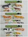 3 hecho a granel pequeña de plástico de animales de granja juguetes para los niños STP-233911