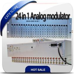 CATV 24 in 1 channels Analog combiner modulator CSP-2401