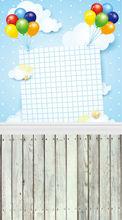 خلفية الصور 5ft x 7ft بالونات المهرجان رقيقة الفينيل ورق تصوير خلفية خلفية d-252 أرضية خشبية