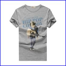 Promotion t-shirt factory design cheap fashion 100% cotton wholesale t-shirt printing for mens rock t-shirt
