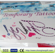 Transfer temporary tattoo letters designs
