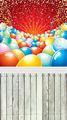 خلفية الصور 5ft x 7ft بالونات المهرجان رقيقة الفينيل ورق تصوير خلفية خلفية d-286 أرضية خشبية