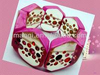 fashion imitation jewellery crystal stones large poly resin beads linked stretch bracelet