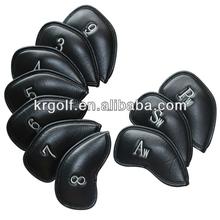 Pu leather Custom Golf Iron Head Covers