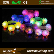 2014 Fashion Flashing LED Bracelet,Rubber Bracelet with LED
