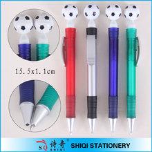fixed football push frog color barrel pen