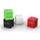 Supur small fm radio bluetooth speaker magic cube with LED clock and alarm