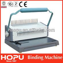 Hopu ring handle binding/binder stiching machine for A4 made in China
