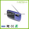 newest hand free protable gift usb mini music fm radio mp3 digital speaker