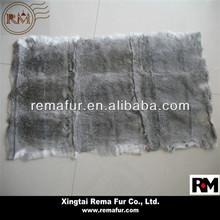 Rabbit Fur Coats Vests Material Factory Hot Selling Real Rabbit Fur Skin Plates