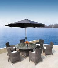 stainless steel outdoor furniture garden dining set PE wicker chair