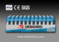 1.5v aa dry cell bulk packing battery