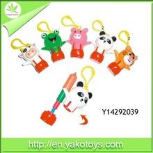 plastic keychain animal shape stretchy ballpen for children
