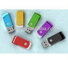 Hot sell colorful mini swivel usb flash drive,usb metal flash disk bulk cheap 8gb