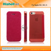 transparent leather cell phone cover for iphone 5s