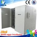 Incubadora del huevo ce aprobado y confiable costo- efectiva de pollo/pato/gansos/de codorniz/de aves incubadora del huevo( 8448 huevos)