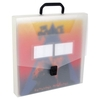 PP opaque case with handle and clasp